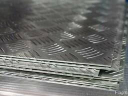 Лист рифленый алюминиевый, алюминий рифленка