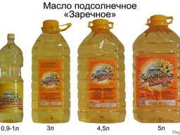 """Масла подсолнечное """"Заречное"""" пр-во г. Усть-Каменогорск"""