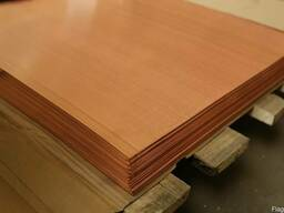 Медный лист М1М 0.5х600х1500 мм.