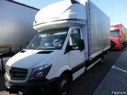 Мерседес 519 2016г. грузовик, с борт кузовом 4.7m tent