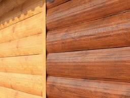 Металлический сайдинг Блок-Хаус под дерево, имитация дерева.