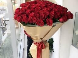 Метровые голландские розы! Свежие цветы. Доставка. Звоните!