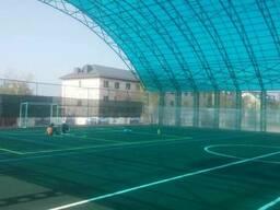 Монтаж футбольных полей