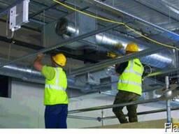 Монтаж и изготовление воздуховодов, монтаж вентиляции.