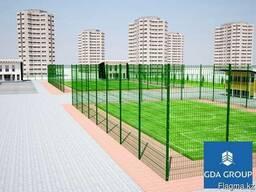 Ограждения для спортивных площадок, кортов, футбольных полей
