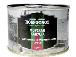 Морская капуста с овощами в томатном соусе №6 250г 1/48 ( 58