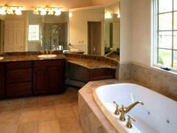 Мрамор в ванных комнатах