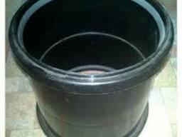 Муфта ПНД для технических труб с резинками