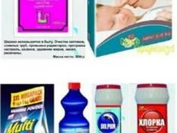 Мыло-моющую продукцию,бытовую химию,средства дезинфекции.
