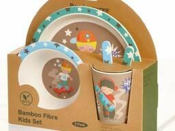 Набор детской бамбуковой посуды оптом