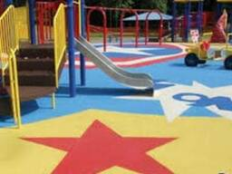 Наливное резиновое покрытие для детских площадок в Шымкенте