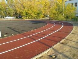 Тартановое покрытие для спортивных, детских площадок - фото 1