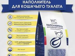 Наполнитель кошачьи комкующейся wc cat/kitten 10 л.