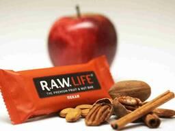 Натуральные батончики RAW LIFE орех и фрукты