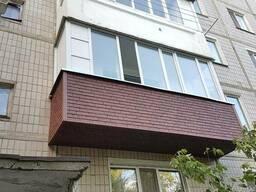 Обшивка балкона сайдингом.Низкие цены!Скидки