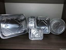 Одноразовая посуда из фольги. (Алюминиевые касалетки)