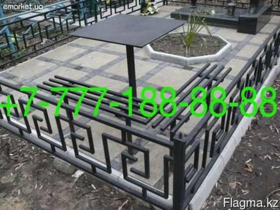 Оградки на могилу в Алматы, изготовление, установка