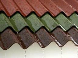 Ондулин красный, зеленый, коричневый