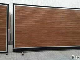 Откатные ворота из сенд.панелей