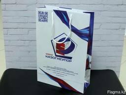 Пакеты бумажные, подарочные с логотипом. Изготовление