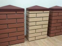 Панели ПИКС. Имитация кирпичных колон Заборы в Кокшетау
