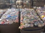 ПЭТ бутылки прессованные сортированные по цветам бело-голубы - фото 2