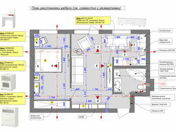 Планировочное решение квартир, домов, нежилых помещение, диз