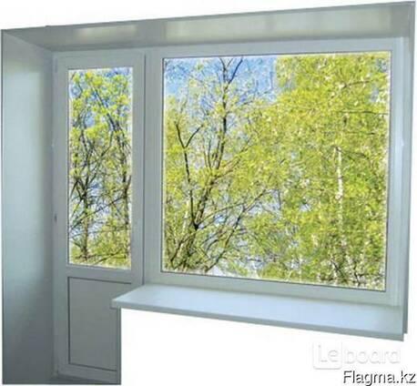 Пластиковое окно глухое балконный блок (кирпичный дом)