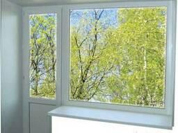 Пластиковое окно глухое балконный блок (кирпичный дом) - фото 1