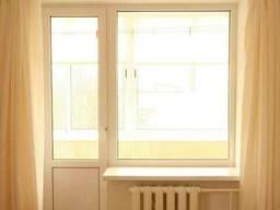 Пластиковое окно глухое балконный блок (кирпичный дом) - фото 2