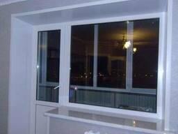 Пластиковое окно глухое балконный блок (кирпичный дом) - фото 3