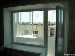 Пластиковое окно глухое балконный блок (кирпичный дом) - фото 6