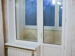 Пластиковое окно глухое балконный блок (кирпичный дом) - фото 7