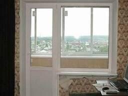 Пластиковое окно глухое балконный блок (панельный дом) - фото 5