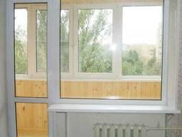 Пластиковое окно глухое балконный блок (панельный дом) - фото 6