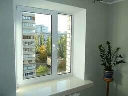 Пластиковые окна. Кухня. (кирпичный дом)