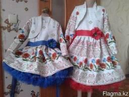 Платья детские и взрослые, маки, ручная работа, хлопок - фото 5