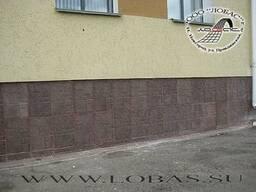 Плитка 'Большой известняк' для цоколя и фасада дома