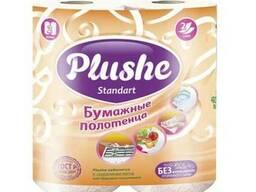 Plushe бумажные полотенца Standart 2 слоя ,2 рулона