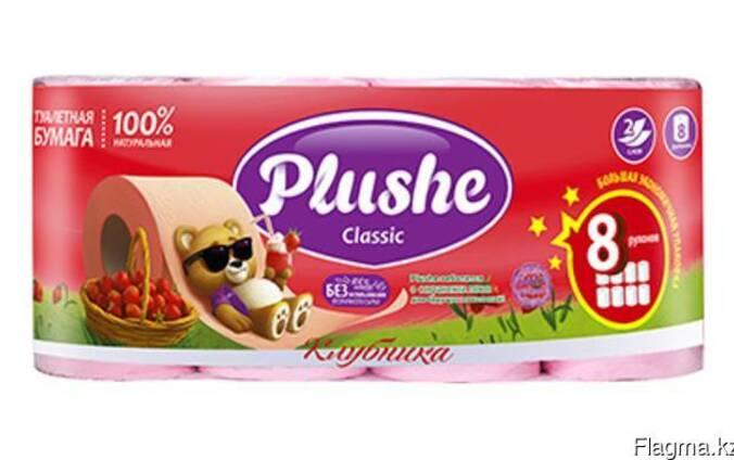 Plushe classic 6 2 клубника 2 слоя,8 рулонов