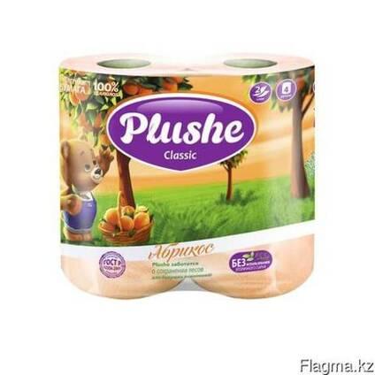 Plushe Classic абрикос 2 слоя,4 рулона клубника