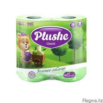 Plushe Classic зеленое яблоко 2 слоя,4 рулона клубника