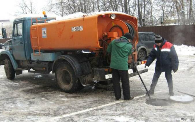 Прочистка канализации,опрессовка систем отопления