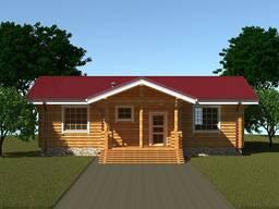 Проект дома из оцилиндрованных бревен № 279