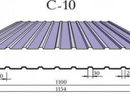 Профлист оцинкованный С10 толщина 0,5 мм