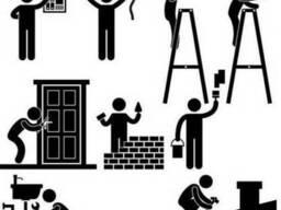 Производим ремонтно-отделочные и строительные работы