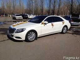 "Прокат. Компания ""7zvezd"". Белый Mercedes-Benz S-класса W-222"
