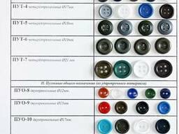 Пуговицы разных диаметров и цветов