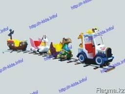 R-KIDS: Электрический поезд аттракцион для парков и ТРЦ KAP-