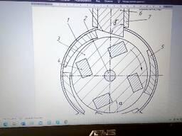 Рабочие чертежи изобретения Магнитно-маховичный двигатель